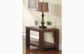 Fairway Royal Classics Distressed Walnut Chair Side Table