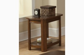 Leighla African Chestnut Chair Side Table