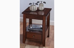 Burton Antique Honey Chair Side Table