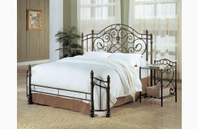 Violet Dark Antique Bronze Finish Full Bed