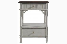 Charleston Regency Gray Linen Nightstand