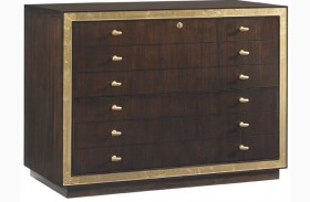 Bel Aire Walnut Finish Beverly Palms File Chest