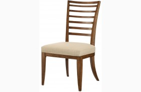 Grove Point Warm Khaki Finish Ladder Back Dining Side Chair