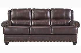 Glengary Chestnut Finish Sofa