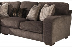 Serena Truffle Finish RAF Loveseat