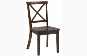 Taylor Cherry Finish X Back Dining Chair Set of 2
