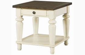 Heartland Smoky Brown Drawer End Table