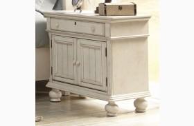 Newport Antique White Finish 2 Door Nightstand