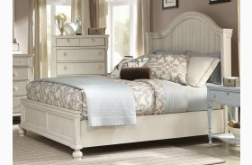 Newport Antique White Panel Bed