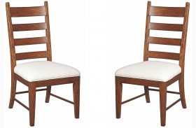 Homecoming Vintage Cherry Patterson Ladderback Dining Chair Set of 2