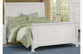 French Market Soft White Sleigh Bed
