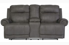 Austere Gray Loveseat with Console