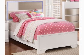 Havering Blanco and Sterling Youth Panel Bed