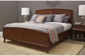 Modern Harmony Burnished Walnut Panel Bed