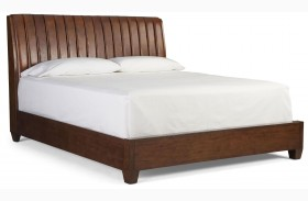 Modern Harmony Burnished Walnut Platform Bed