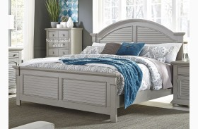 Summer House II Gray Panel Bed