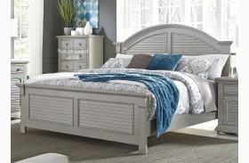 Summer House II Gray Panel Bed