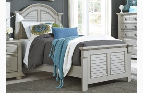 Summer House Dove Gray Youth Panel Bed