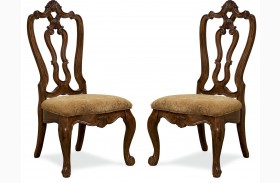 Villa Cortina Carved Back Chair Set of 2