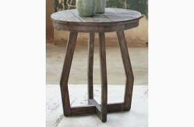 Hayden Way Gray Wash Finish Chairside Table
