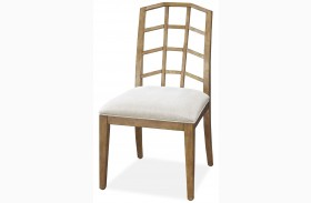 Moderne Muse Bisque Finish Side Chair