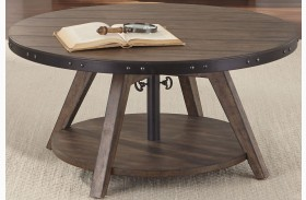 Aspen Skies Russet Brown Finish Motion Cocktail Table