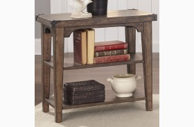 Aspen Skies Russet Brown Finish Chair Side Table