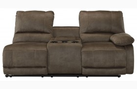Seamus Right Arm Facing Double Power Reclining Console Loveseat