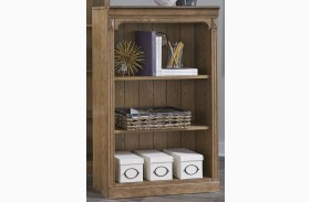 Cumberland Creek Rustic Oak Open Bookcase