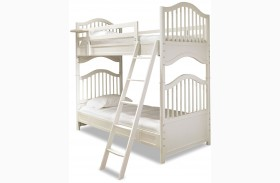 Genevieve French White Youth Over Youth Bunk Bed