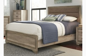 Sun Valley Sandstone Finish Upholstered Panel Bed
