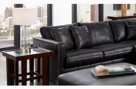 Tucker Black Finish LAF Loveseat