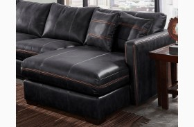 Tucker Black Finish RAF Chaise