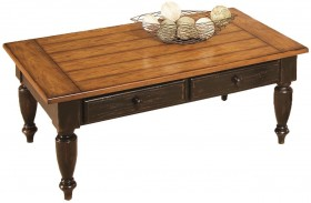 Country Vista Black and Golden Finish Cocktail Table