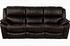 Beckett Black Finish Reclining Sofa