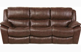 Beckett Java Finish Reclining Sofa