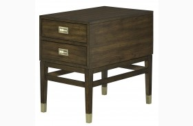 Stratus Umber Brown Pecan Chairside Table