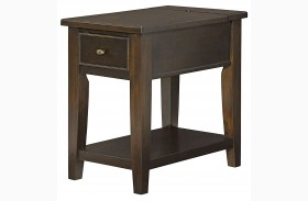 Boulevard Chocolate Brown Chairside Table