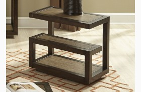 Bennett Pointe Smokey Tan Finish Chairside Table