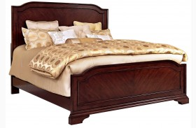 Elaina Rustic Cherry Panel Bed