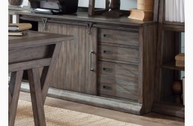 Stone Brook Jr Executive Rustic Saddle Credenza