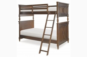 Big Sur Saddle Brown Bixby Bunk Bed