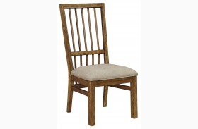 Bethany Square Brown Seat Side Chair