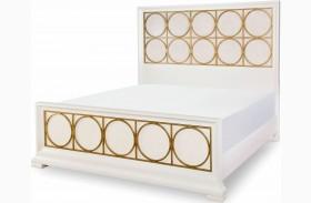 Tower Suite Pearl Metal Panel Bed
