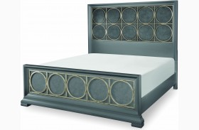 Tower Suite Moonstone Metal Panel Bed