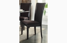 Havre Dark Brown Side Chair Set of 2