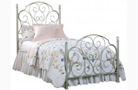 Spring Rose Youth Metal Bed