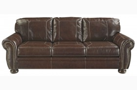 Banner Coffee Finish Sofa