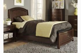 Avalon Truffle Youth Leather Storage Bed
