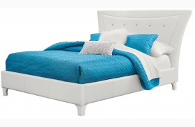 Vogue Glossy White Youth Upholstered Bed